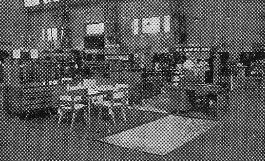Various items of Snelling line furniture in the Functional Products factory, 1954.