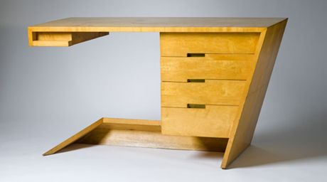 Maple and oak desk by LA designer Dan Johnson, 1947. Photo Museum Associates/LACMA.